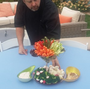 Crudite Martini Teardrop Dips - Wedding Event Catering