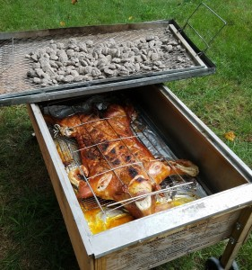 Caja Crispy Pig Inside - BBQ Catering Event NJ
