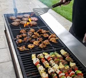 Grill Shrimp Burg Kebabs - BBQ Catering Event