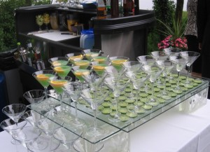 Lime Martini Table - Event Catering