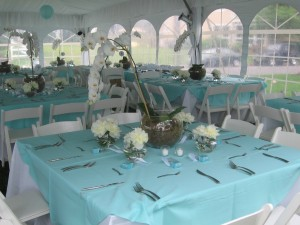Table Setting Tent - Wedding Event Catering NJ
