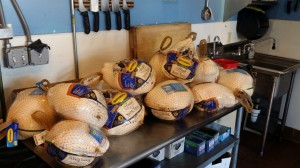 Turkeys Ready for Prep
