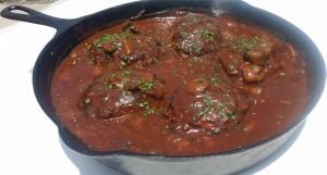 Salisbury Steak Cast Iron Pan